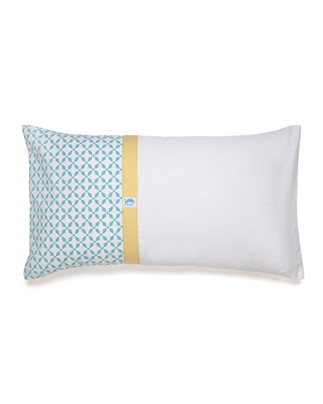 Southern Tide Savannah Tile-Print Pieced Pillow with Skipjack