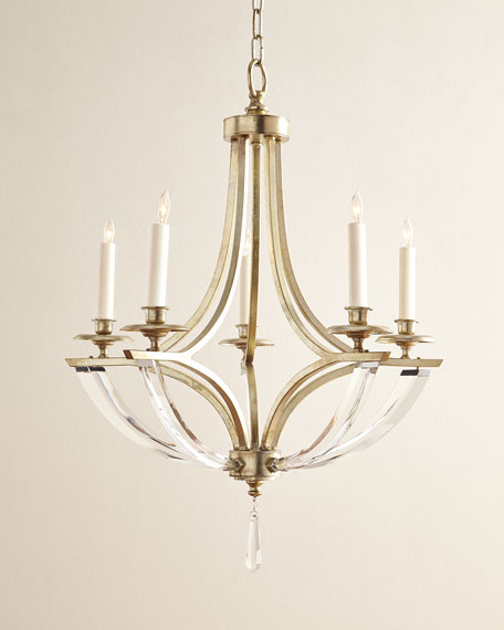 John-Richard Collection Bent 5-Light Crystal Chandelier