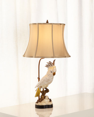 White Parrot Accent Lamp