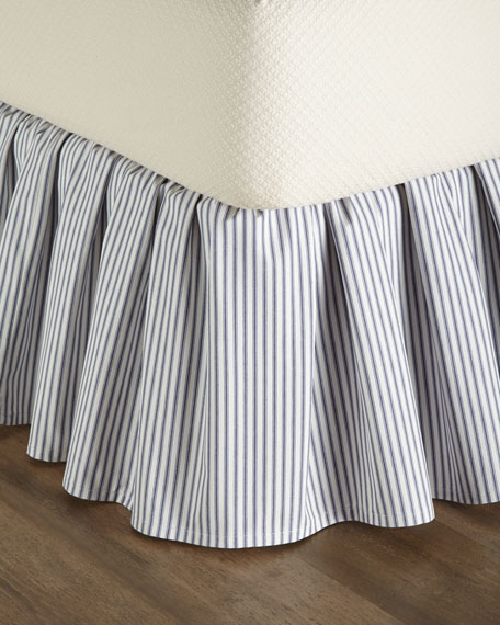 King Ticking-Stripe Dust Skirt