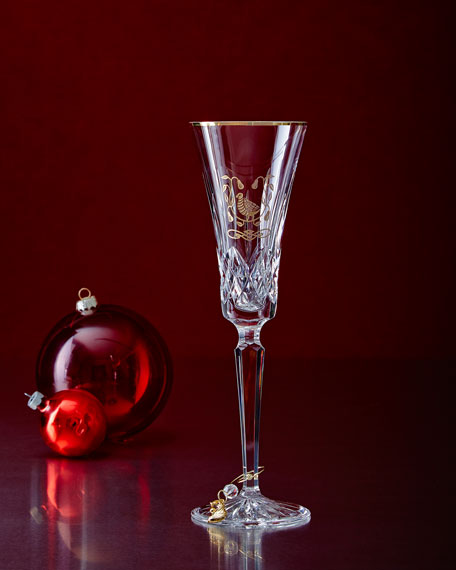 Waterford Crystal Partridge-in-a-Pear-Tree Flutes