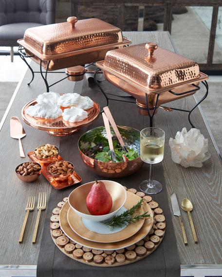 4-Quart Rectangular Copper-Plated Chafing Dish