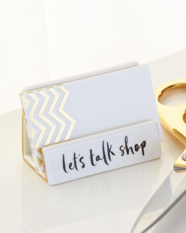 kate spade new york Daisy Place Desktop Business Card Holder ...