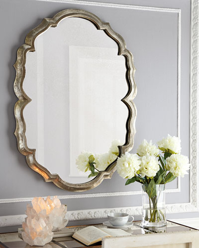 Centerpoint Scalloped Mirror