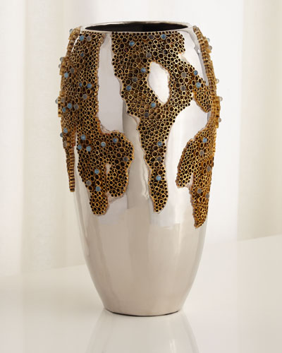 Brass & Stone Vase