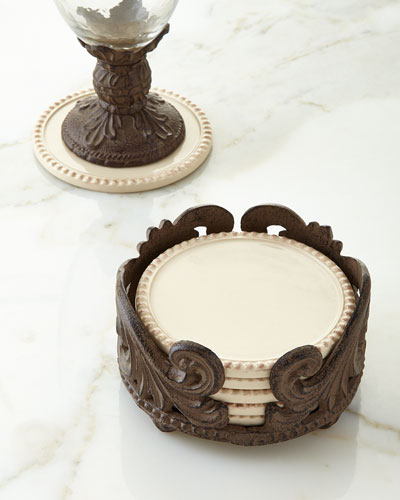 Six Acanthus Coasters