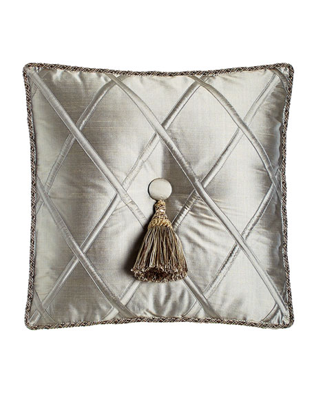 Dian Austin Couture Home Silk Diamond Pillow with