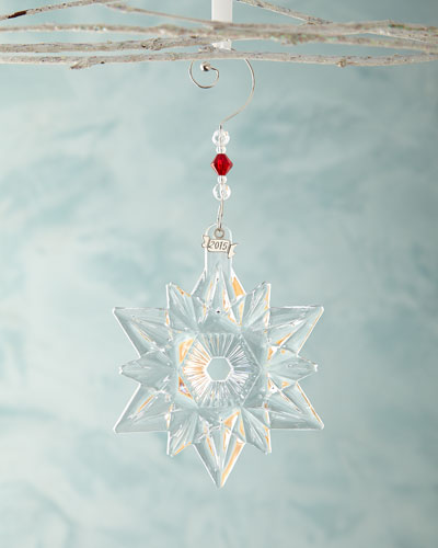 Annual Snow Crystal Christmas Ornament