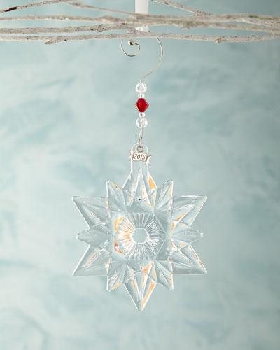 Annual Snow Crystal Christmas Ornament
