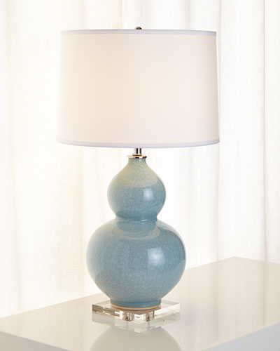 Pearl-Blue Table Lamp