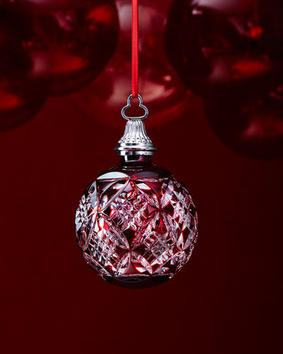 Red Cased Ball Christmas Ornament