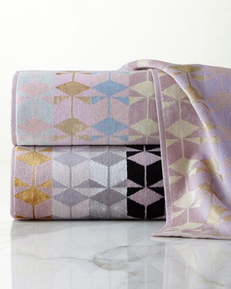 Ziporah Lifestyle Geometric Jacquard Bath Towel