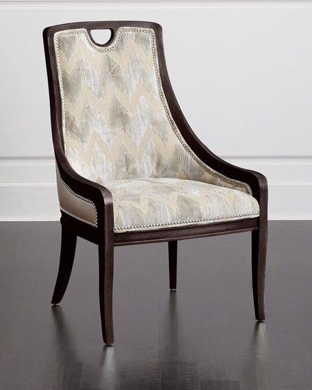 Massoud Delilah Leather Side Chair