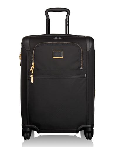 Alpha 2 Black Continental Expandable 4-Wheel Carry-On