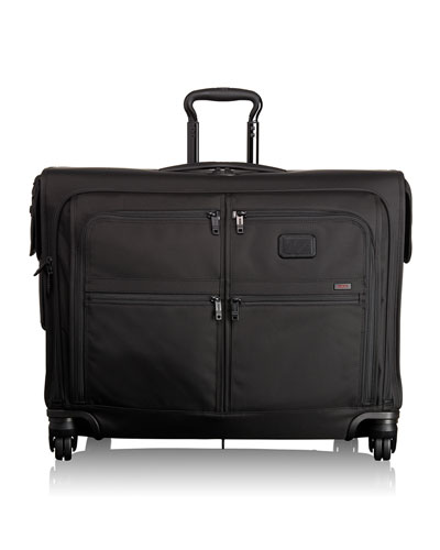Alpha 2 Black 4-Wheeled Medium-Trip Garment Bag