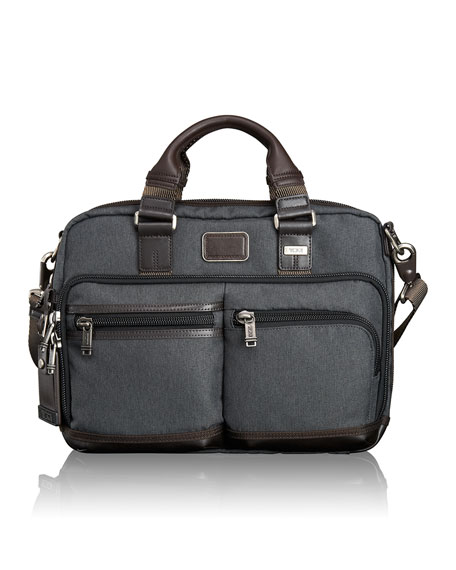 Tumi Alpha Bravo Anthracite Anderson Slim Computer Brief