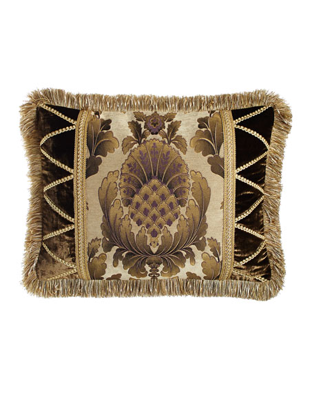 Standard Gatsby Medallion-Center Sham with Fringe