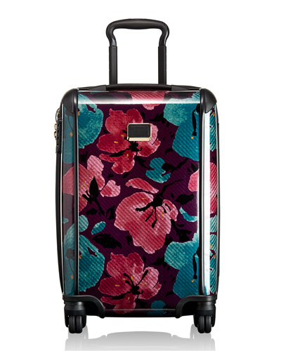 Tegra-Lite Peony Floral International Carry-On