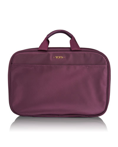 Voyageur Aubergine Lima Travel Toiletry Kit