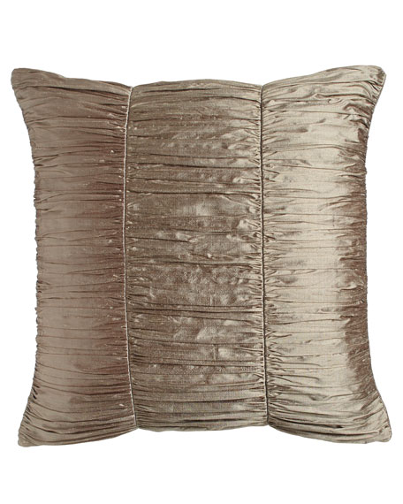 European Winter Twilight Ruched Silk Sham