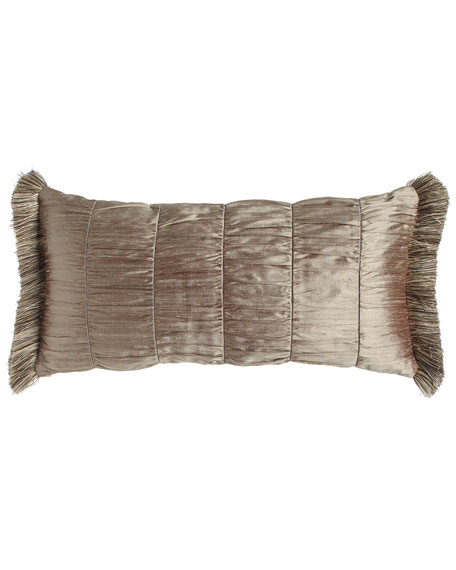 Winter Twilight Ruched Silk Pillow, 12