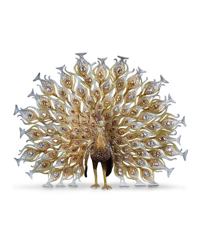 20th Anniversary Limited Edition Golden Peacock Figurine