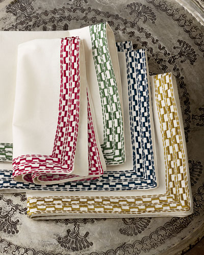 Embroidered Napkins, Set of 4