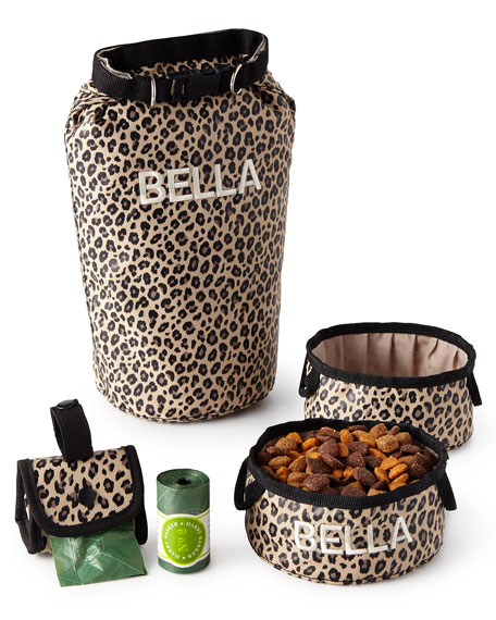 Harry Barker Leopard Bark-N-Go Accessories Sets