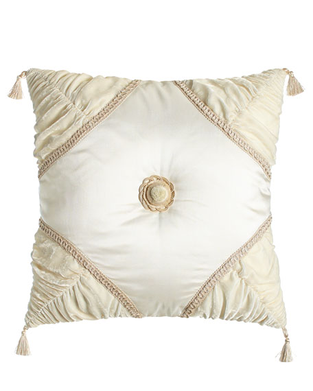 Dian Austin Couture Home Square Capello Pillow with