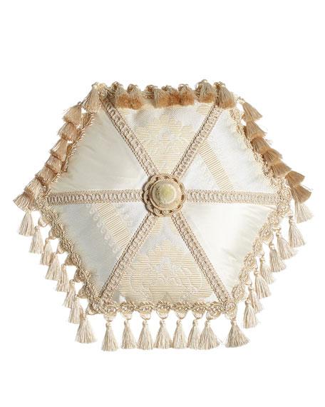 Dian Austin Couture Home Capello Pieced Tambourine Pillow,
