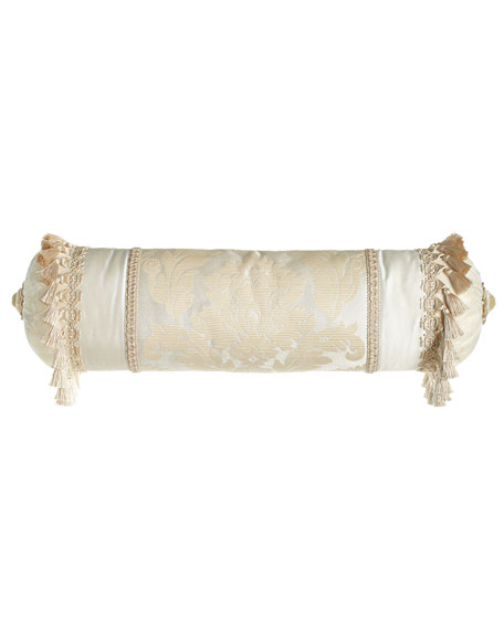 Dian Austin Couture Home Capello Pieced Neckroll Pillow,