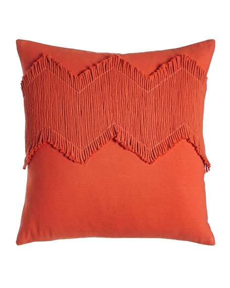 Blissliving HOME Orange Puebla Pillow, 18
