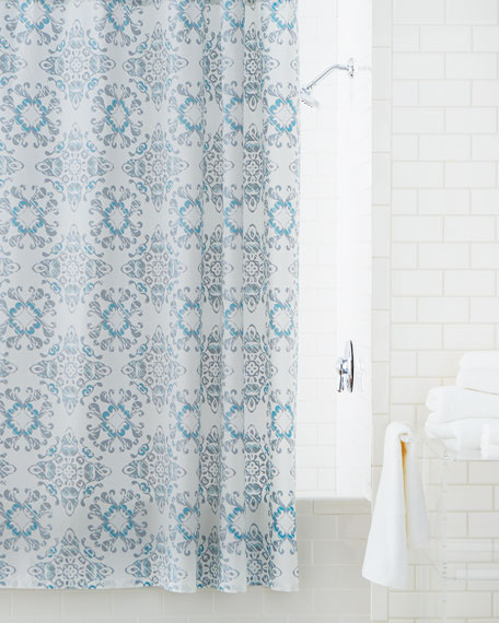 Kassatex Gazing Medallion Shower Curtain