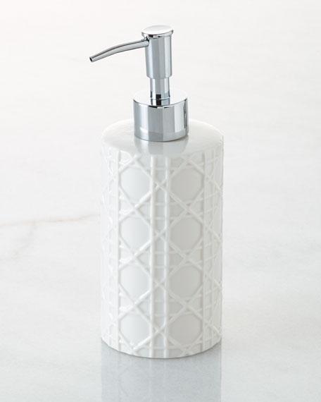 Cane Embossed Porcelain Pump Dispenser