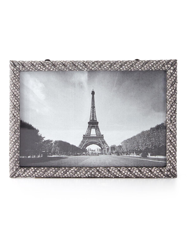 Lobjetdeco twist noir pave 4 x 6 picture frame