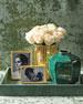 Emerald Shagreen Rectangular Tray