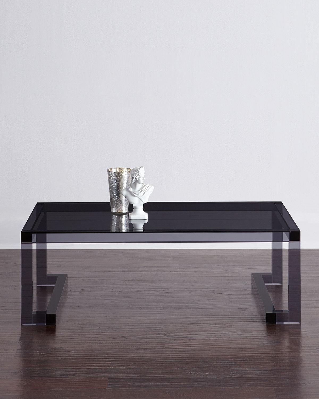 Interlude Acrylic Coffee Table: Interlude Home Constance Noire Acrylic Coffee Table