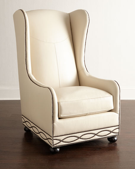 Bernhardt Fenneck Leather Chair