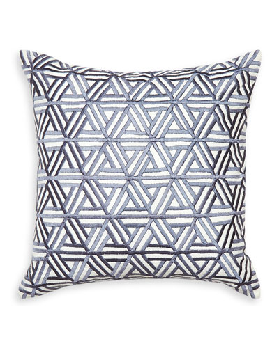 Interlocking Satin-Stitch Pillow