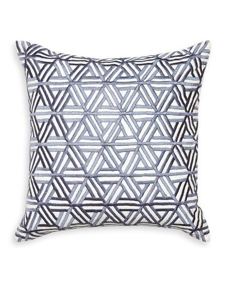 Interlocking Satin-Stitch Pillow