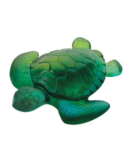 Mini Green/Blue Turtle Sculpture