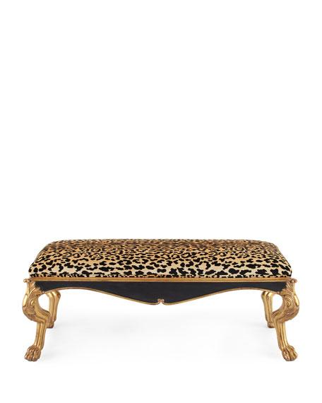 Zahra Leopard Bench