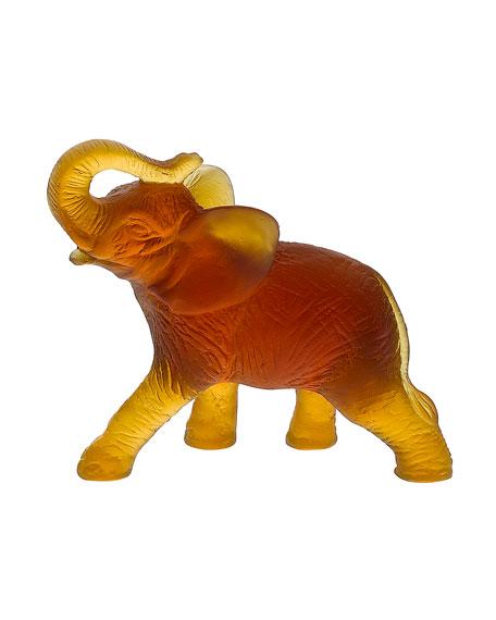 Daum Small Amber Elephant
