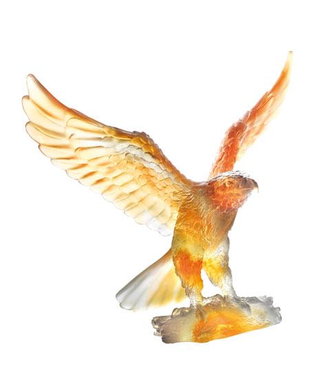 Gray/Amber Eagle Sculpture