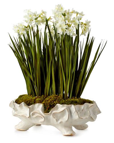 Paperwhite Garden Faux-Floral Arrangement