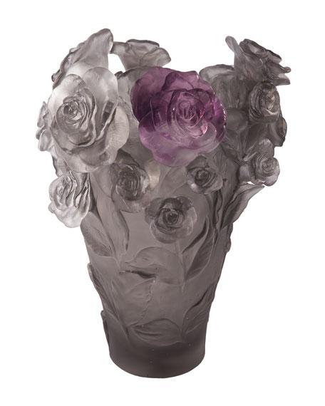 Daum Rose Passion Medium Vase