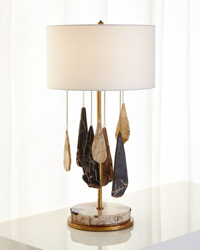 Petrified Wood Table Lamp