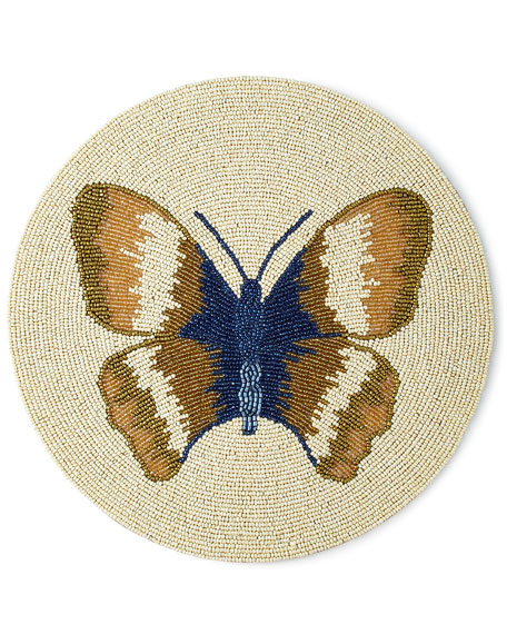 Divine Designs Butterfly Beaded Placemat