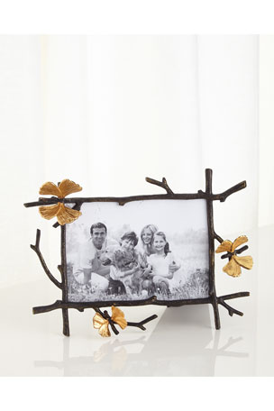 """Michael Aram Butterfly Gingko 5"""" x 7"""" Picture Frame"""
