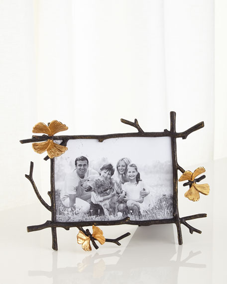 "Butterfly Gingko 5"" x 7"" Picture Frame"